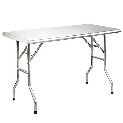 """Royal Gourmet 48"""" L Stainless Steel Folding Work Table Kitchen BBQ Party Dinner"""