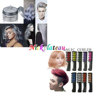 Temporary Dye Colour Hair Chalk Soft Pastel Cream Comb/Brush or Hair Color Wax
