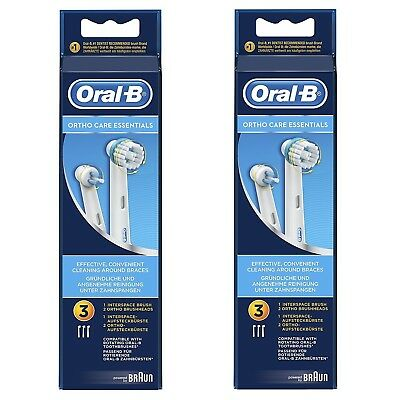 Lot 2X Braun Oral-B® Ortho Care Essentials Pour Appareil Orthodontiques