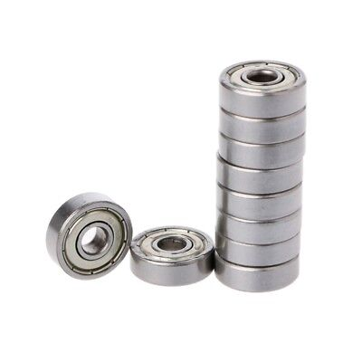 10Pcs 625ZZ Mini Double Metal Shielded Flanged Ball Bearing For 3D Printer Part