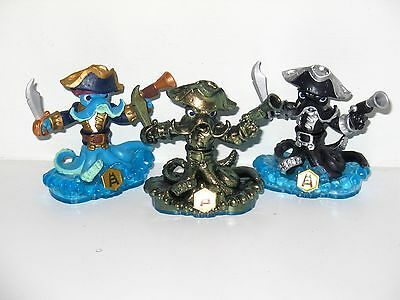 Skylanders Swap Force - Wash Buckler x3 - Gold Colour Shift, Dark & Reg Figures