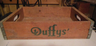 Duffys wooden soda crate