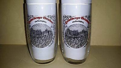 2 Rare Collectable Heidelberger Weindorf Beer Glasses