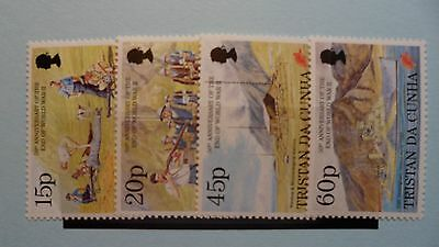 Tristan da Cunha Stamps, 1995, 50th Anniv of End of WWII, SG580-583, Mint NH