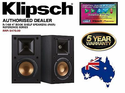 """*Out Of Stock* KLIPSCH (R-14M) REFERENCE SERIES 4"""" BOOK SHELF SPEAKERS (PAIR)"""