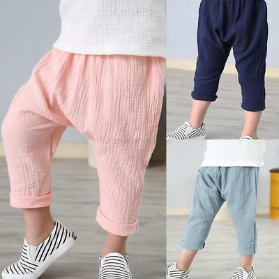 Baby Boy Girl Baggy Trouser Harem Pants Toddler Kids PP Sweatpants Leggings 1-7T