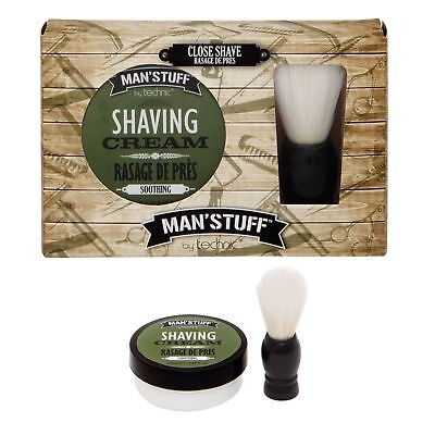 Technic Man's Stuff Close Shave Set Bath Body Face Shaving Cream Brush Gift Set