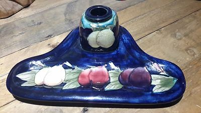 MOORCROFT Rare Wisteria Plum DeskTray and Ink Well