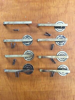 Art Deco/ mid century modern, solid brass drawer pulls, Stow and Davis. 50's