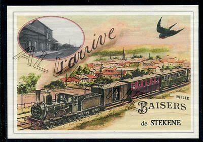 STEKENE - train souvenir creation moderne - serie limitee numerotee