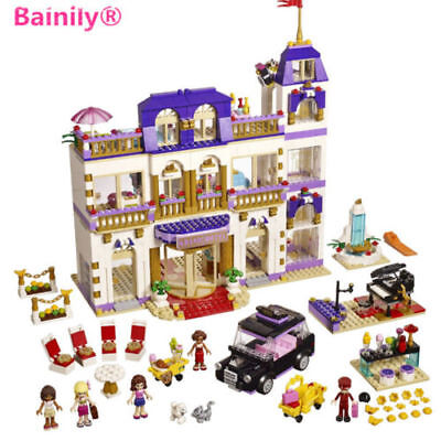 Friends Series Heartlake Grand Hotel Building Blocks Classic For Girl Kids Toys