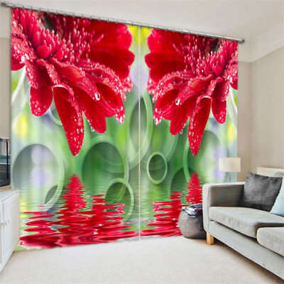 Life In Full Blossom 3D Blockout Photo Curtain Print Curtains Fabric Kids Window