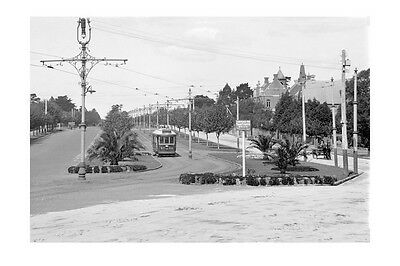 WINDSOR Dandenong Rd & Chapel St cnr TRAM c1920 modern digital Photo Postcard