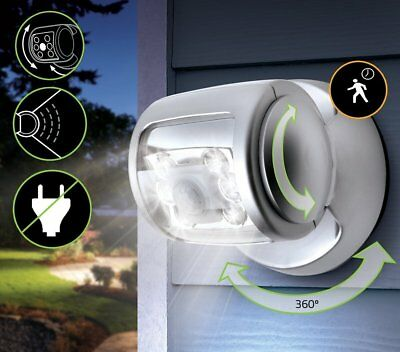 360° Rotating Wireless LED Motion Sensor Porch Light with Floodlight Technology