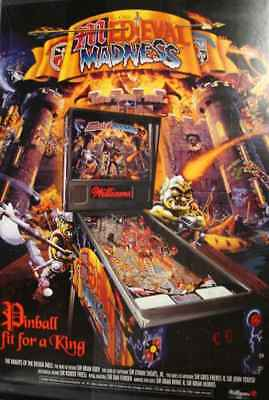 Medieval Madness Pinball Poster Williams MM 1997