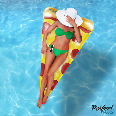 Official 'Perfect Pools' Inflatable Giant Pizza Slice Float - Pool Float - 178cm