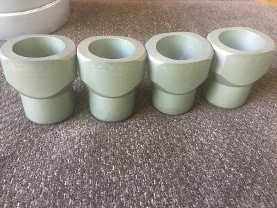 Lot Of 4 Sorvall Centrifuge Swinging Rotor Buckets 250ml for Sorvall HS4 Rotor