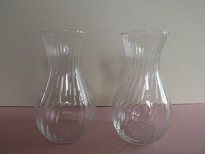 Pair of Ripple Glass Vases - Dartington  (72.251)