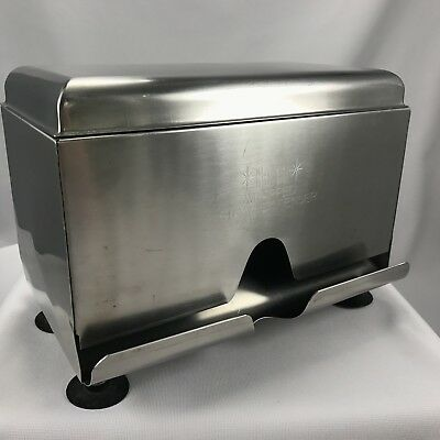 Vintage HALCO Stainless Steel Sanitary Straw Dispenser Double Sided JAPAN Diner