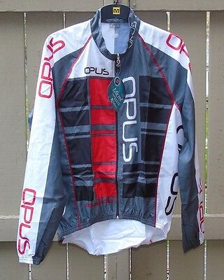 Opus Team Edition Cycling Jacket, Size Large, White/Black/Grey/Red, Brand New