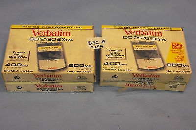 Verbatim DC2120 EXtra Mini-Cartridge 400/800 MB-QIC80-NIB-NR ~ Lot of 4 ~