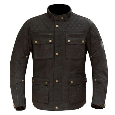 Merlin Yoxall Wax Motorcycle Jacket - Black - All Sizes