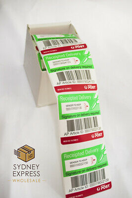 Australia Post Receipted Delivery Labels, Tracking, Signature Registered Auspost
