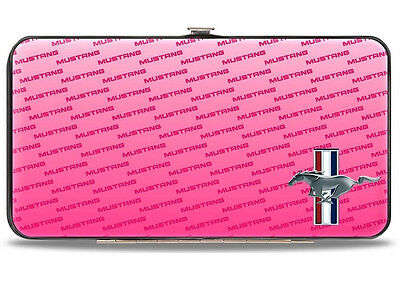 Ford Mustang logo pink hinged wallet - great gift for her!