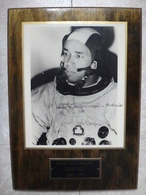 """April 1978 Major Fred Gregory Astronaut Autographed 8"""" x 10"""" Photo Framed"""