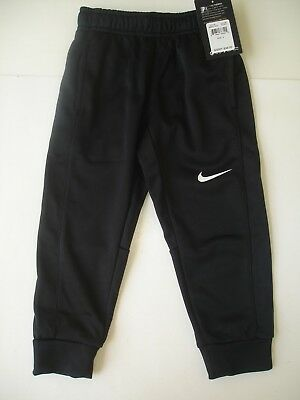 NWT Boy 4- Nike Therma Fit Jogger Pants - Black with White Logo