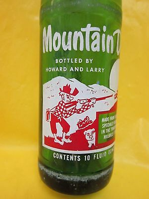 Mountain Mtn Dew Bottled By Howard And Larry 1965 Hillbilly Glass Bottle Pepsi