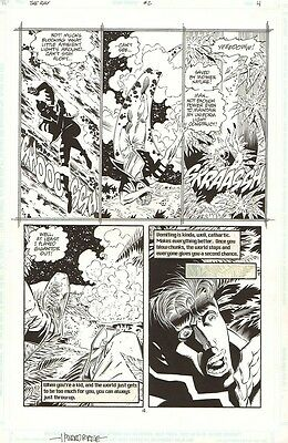 The RAY #2 p.4 signed by Howard Porter / Ray in action!