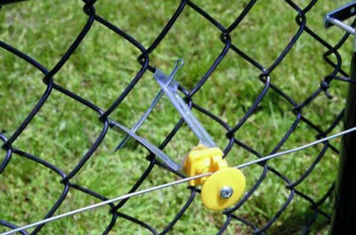 Electric Fence Insulators Chain Link Clip For Fencing Post Panels Caps Stakes