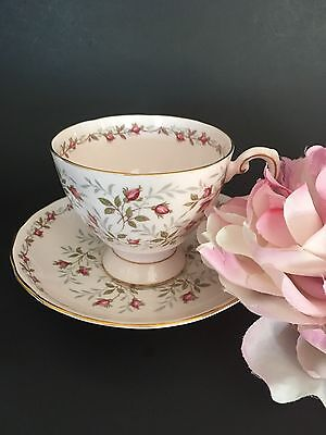 Vintage Tuscan English Bone China Teacup & Saucer Charmaine Roses