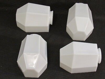 One Antique Art-Deco Shade for Bathroom Wall Sconce - 4 Available