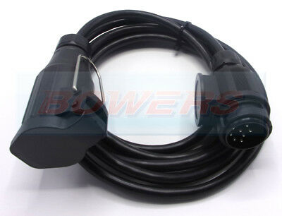 8 / 13 Pin 6M 6 Meter Plug / Socket Trailer Towing Lighting Extension Cable Lead