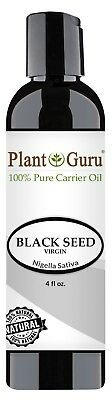 Black Cumin Seed Oil 4 oz. Cold Pressed Nigella Sativa 100% Pure Organic Virgin