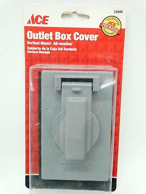 NEW Ace 31644 Grey Single Gang Vertical Mount All Weather Outlet Box Cover