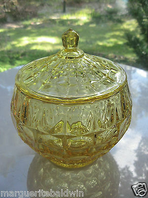 Tiara Indiana Glass Yellow Mist Constellation Cookie Biscuit Jar & Cover