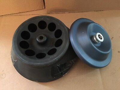 BECKMAN GA-10 FIXED ANGLE 10 POSITION CENTRIFUGE ROTOR with LID!