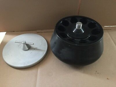 Beckman Sorvall Type 21 Seven-Place Centrifuge Rotor with Lid!