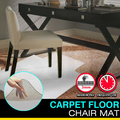 """Desk Home Office Carpet Chair Floor Mat Protector 47"""" x 35"""" with Piles"""
