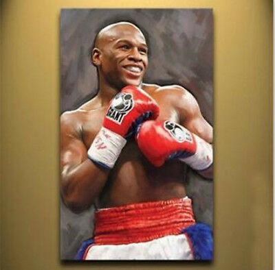 Hand painted oil painting wall art home decor FLOYD MAYWEATHER no frame 36