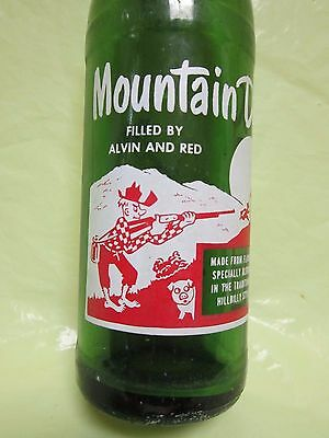 Mountain Mtn Dew Filled By Alvin And Red 1964 Glass Hillbilly Bottle By Pepsi