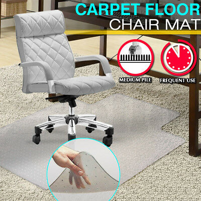 "53"" x 25"" Large Office Carpet Chair Mat Computer Floor Work Vinyl Protector"