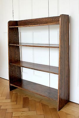 Vintage small Dark Oak antique bookshelf