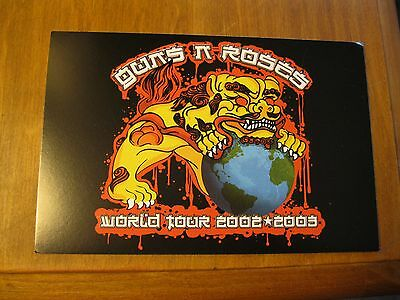 Guns N' Roses World Tour 2002-2003 Band Promo Collectible Postcard Axl Rose Rock