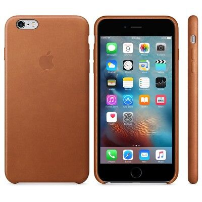 APPLE BRAND Leather case for iPhone 6+/6s+ PLUS - SADDLE BROWN - NEW IN BOX!!