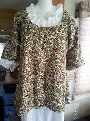 18th Century Historical Reproduction Short Gown (size 46  bust)