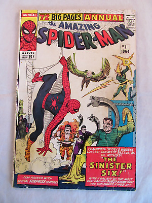 Silver Age 1964 Marvel Comics Amazing Spider-Man Annual No. 1 - 1st Sinister Six